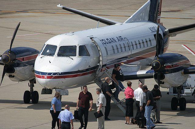 COLGAN AIR SAAB N210CJ at CRW, Yeager Airport, Charleston, West Virginia, USA. July, 2008