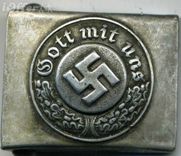 During the Second World War Wehrmacht soldiers wore this slogan on their belt buckles, as opposed to members of the Waffen SS, who wore the motto Meine Ehre heißt Treue ('My honour is loyalty'): Collection Wwii, Belts Buckles, Ehr Heißt, Wehrmacht Soldiers, Heißt Treue, Belt Buckles, Mottos Mein, War Wehrmacht, Mein Ehr
