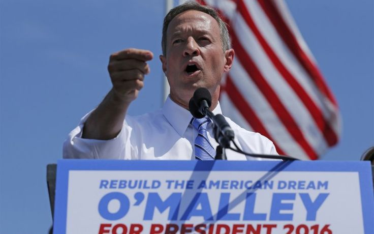 Former Maryland Governor Martin O'Malley announces his intention to seek the Democratic presidential nomination during a speech in Federal Hill Park in Baltimore, Maryland, United States, May 30, 2015.  O'Malley, 52, becomes the third candidate to officially bid for the Democratic nomination, joining Hillary Clinton and Senator Bernie Sanders (I-VT).  REUTERS/Jim Bourg   - RTR4Y527,Former Maryland Governor Martin O'Malley announces his intention to seek the Democratic presidential nomination…