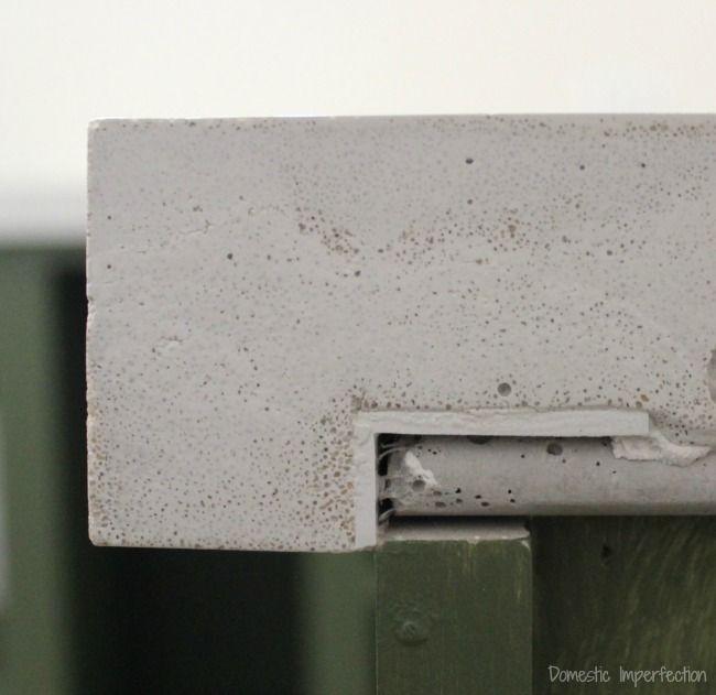 white concrete countertop mix design quikrete forms uk