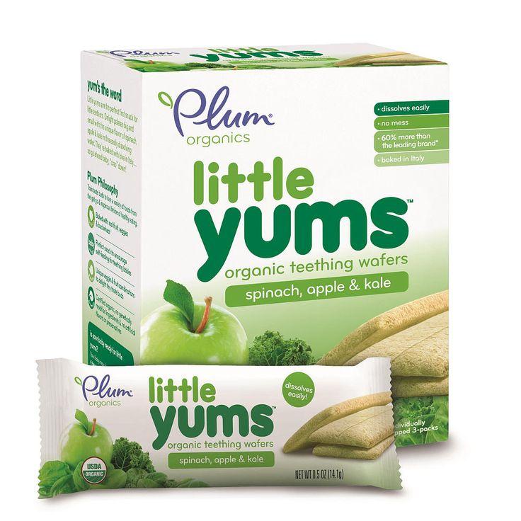"Plum Organics Little Yums Spinach Apple Kale Teeting Wafers - Plum Organics - Toys ""R"" Us"