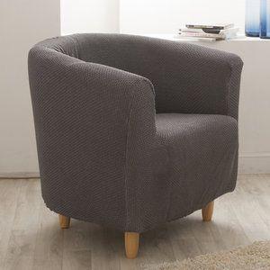 Housse de  fauteuil cabriolet/club unie bi-extensible coton/polyester LISA