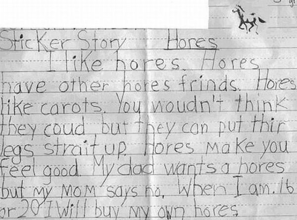 BAHAHA oh, how kids just say the darndest things... (look at the whole page!)