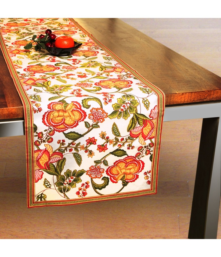 Bring fresh floral ambience of garden on your dining table Table Runner with these floral Table Runner.