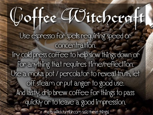 Magickal Coffee  - Pinned by The Mystic's Emporium on Etsy