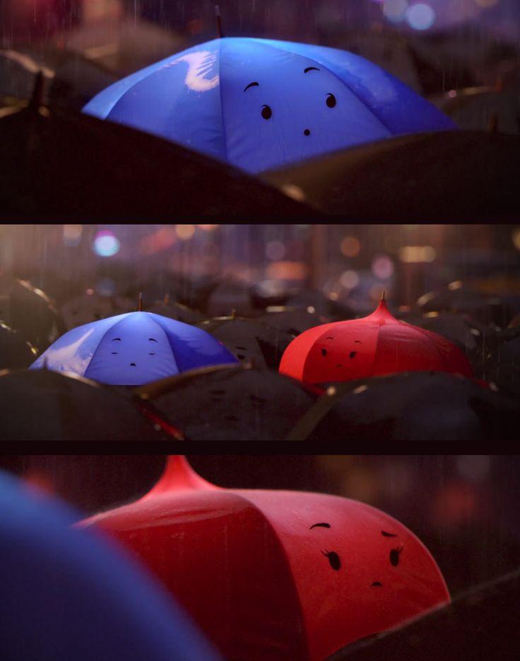 "Watch a sneak peek of Pixar's latest short ""Blue Umbrella"""