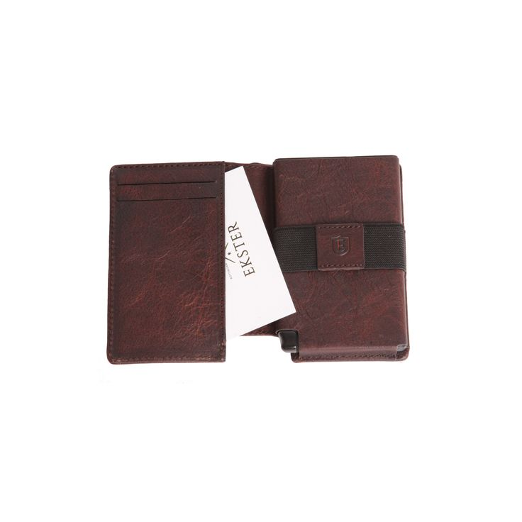 The Parliament Coffee Brown - An ultra-slim trackable wallet that provides instant card access at the click of a button.
