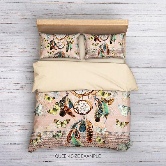 Dream catcher Bedding,Bohemian Bedding,Boho Bedding,Bohemian Duvet Cover,Hippie Bedding,Boho Duvet cover,Queen Bedding,Feather Bedding