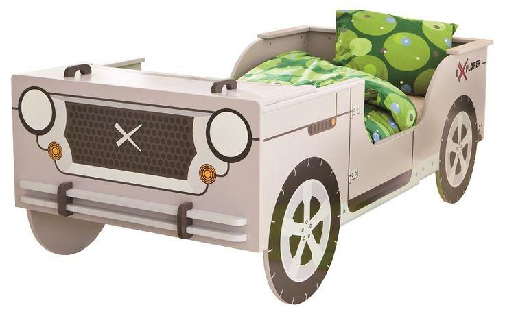 Little Rock Barneseng - Smart og sjov børneseng som er udformet som en grå jeep-bil. Den ideelle seng til børneværelset, hvor dit barn kan drømme om Disneys ´Cars´ hele natten og lege racerkører