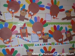 The Kindergarten Center: {FREE} Let's Talk Turkeys! Craftivity