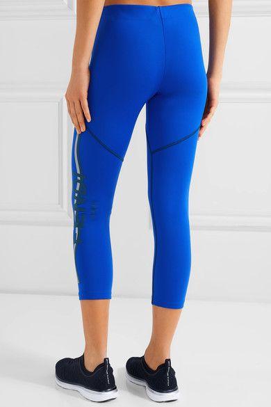Fendi - Coated Stretch Leggings - Royal blue - IT42