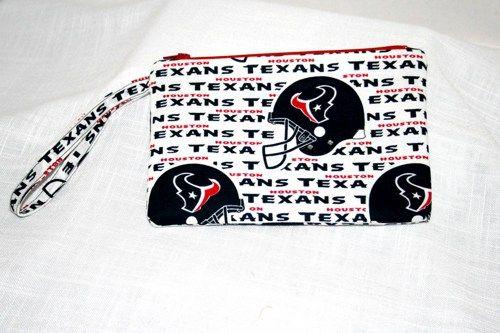 NFL Houston Texans Wristlet iPod Smart Phone Digital Camera Tech Bag | memawsews - Bags & Purses on ArtFire