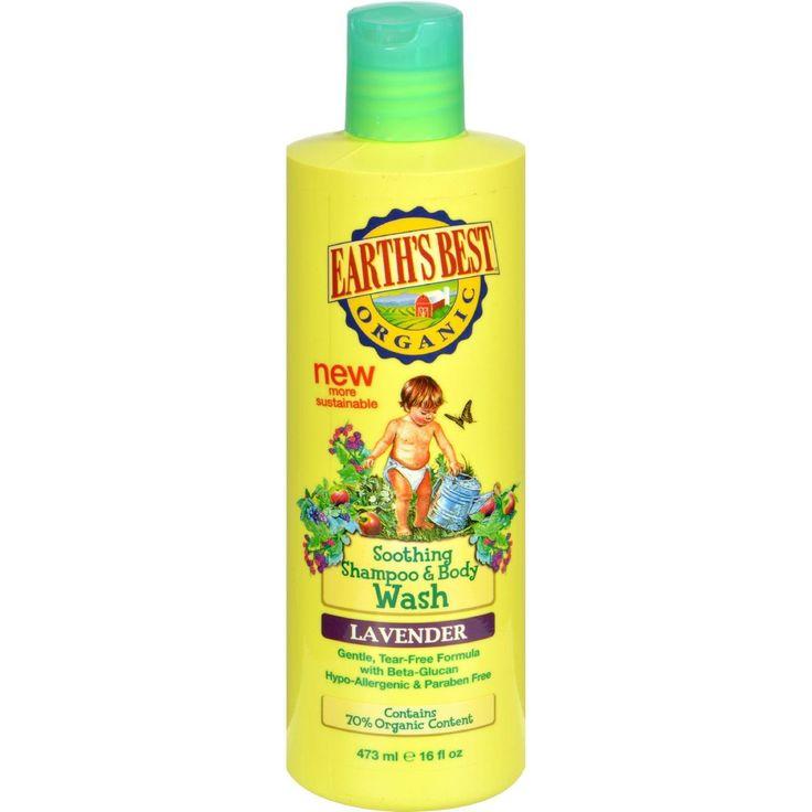 Earths best organic shampoo and body wash lavender
