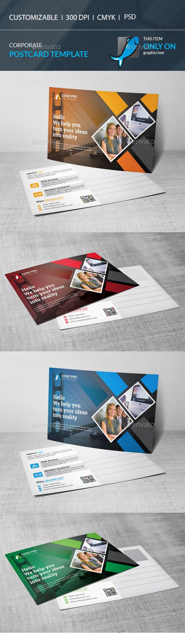 Postcard Template PSD