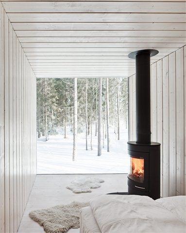 Four-cornered villa - Virrat, Finland - Avanto Architects #architecture #finland #snow