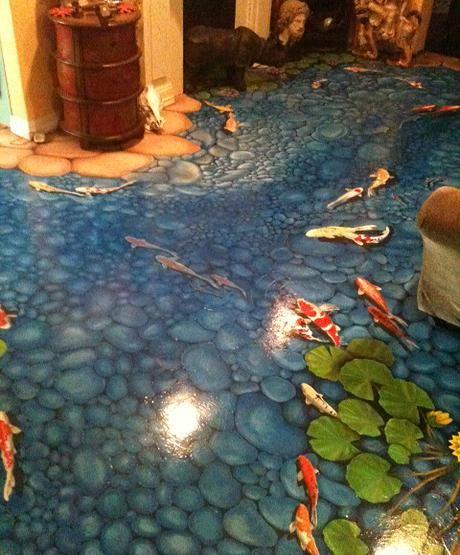 jessie sibert art gallery | abstract  floor mural
