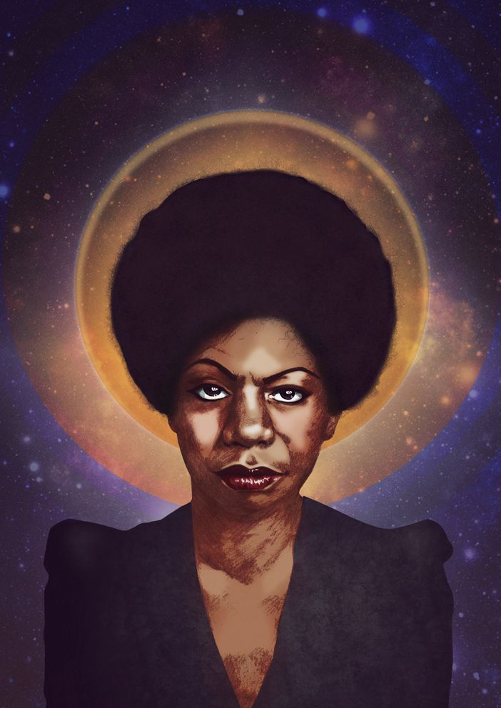 Saint Nina Simone via eplet. Click on the image to see more!