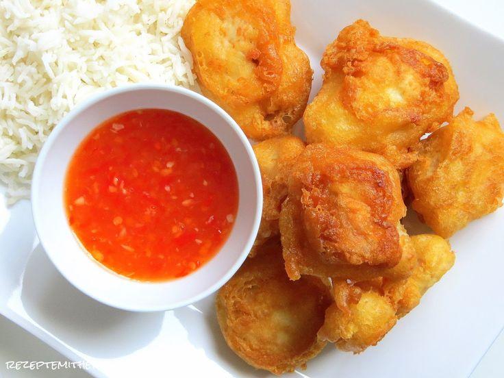 Rezepte mit Herz ♥: Hähnchenbrust gebacken mit Basmati Reis und Sweet Chili Sauce ♡