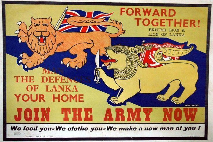 Vintage Ceylon Sri Lanka British Army Recruitment Poster A3/A2 Print   eBay