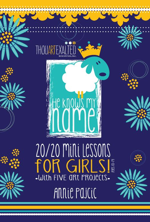 TAE is excited to release our NEW Bible Study called He Knows My Name 20/20 Lessons for Girls! He Knows My Name 20/20 Mini Lessons for girls is a Biblical study for middle school girls ages 10-14. …