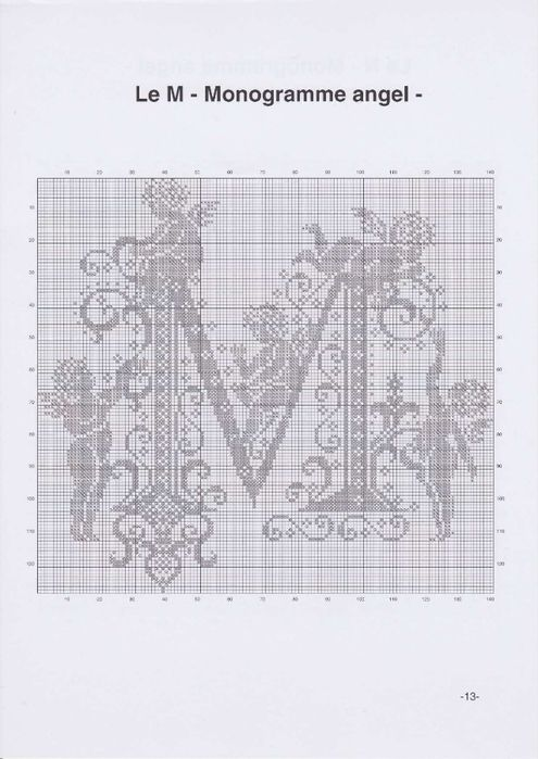 Cross-stitch. Monogram CON ANGELI (16) (495x700, 187KB)