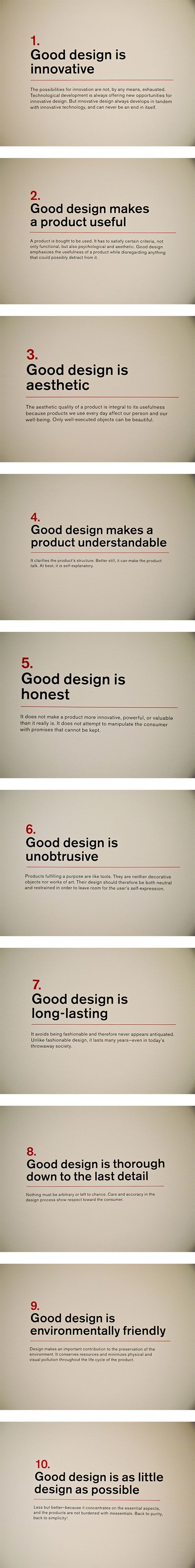 [10 Commandments of Good Design] What do you think?  www.geneciaalluora.com