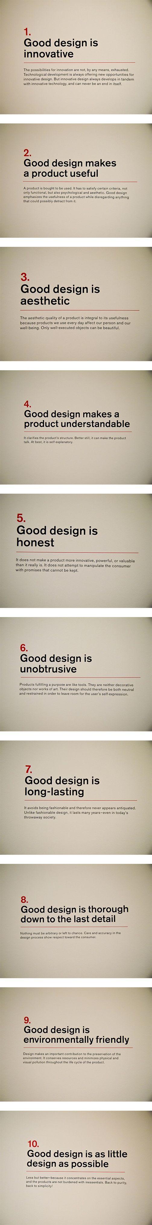 "Dieter Rams' ""Ten principles for Good Design"""