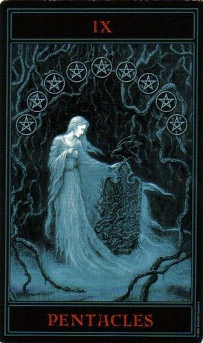 The Gothic Tarot: Nine of Pentacles