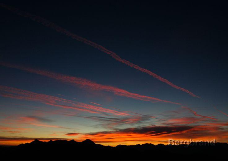 Bei Sonnenaufgang auf dem Spitzstein
