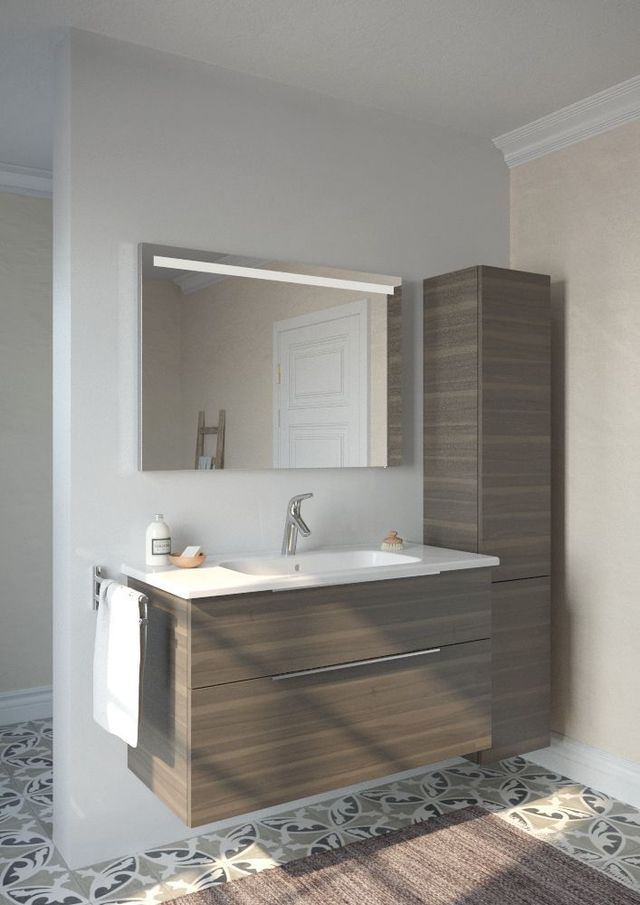 17 best ideas about meuble sous lavabo on pinterest - Etagere salle de bain teck ...