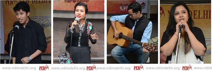 NDIMites showcase their singing talent on the stage of Spandan 2015. A big thank you to the participants from Dyal Singh, ITS, Motilal Nehru, IGNOU, Maharaja Agrasen, Janki Devi Memorial, Dronacharya College of Engineering, Satyawati, BR Ambedkar, Ramjas, Prayas Juvinile Aid Centre, Asian School of Media Studies, AAFT and other colleges. Special congratulations to the winners.