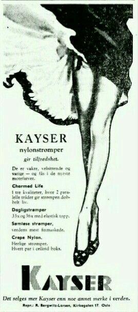 KAYSER Nylonstrømper 1958
