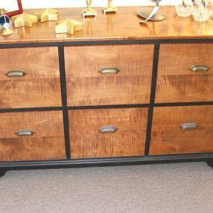 6 Drawer File Cabinet Wood