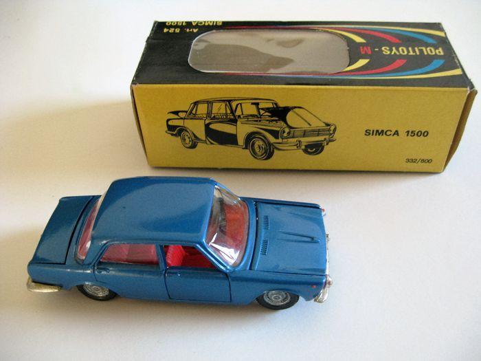 Politoys-M-1/43 schaal - Simca 1500 Model No.524  Uit mijn privé-verzameling die ik verkopen:SIMCA 1500 Limousine. Bouwen tussen 1963and 1966 in Nanterre / Frankrijk.De Fransen bouwen auto met Italiaanse smaak.Het model is in nieuwstaat. U kunt de open deuren motorkap motorkap en draaibare het verstelsysteem.De originele doos heeft lichte krassen aan de ene kant van de sluiting.Originele auto's zijn zelden te vinden. Hier is een goed bewaard gebleven model voor uw collectie. Veel…