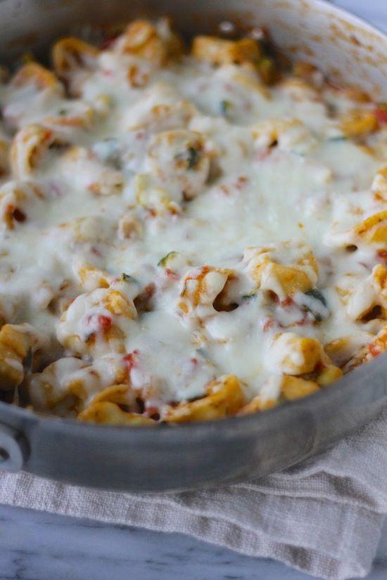Italian Herb Baked Cheesy Tortellini