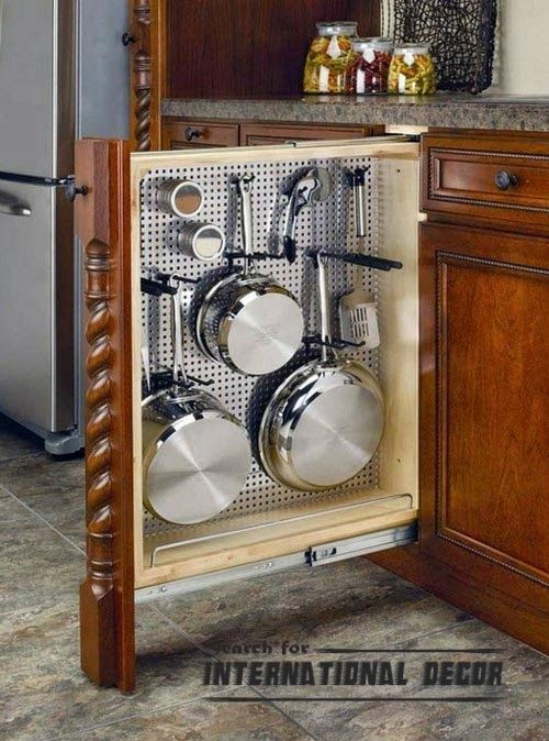 pull out drawers and shelves system for kitchen