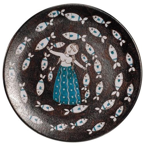 """Vietri plate from the exhibition """"Le terre del sole"""""""