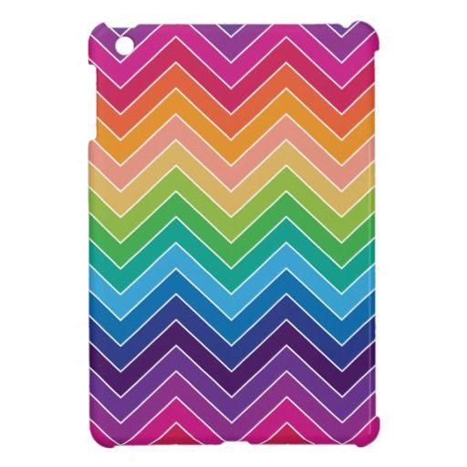 Rainbow Chevron Pattern Modern gifts Cover For The iPad Mini