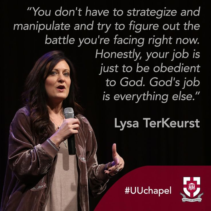 Lysa TerKeurst in chapel