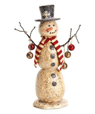 Look what I found on #zulily! Snowman & Ornaments Statue #zulilyfinds