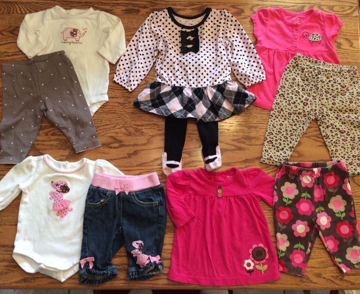 Baby Girl Outfits Lot Set 0-3 3-6 3 Months Dress Jeans Winter Fall 2 Piece Set #MixedLot #EverydayDressy