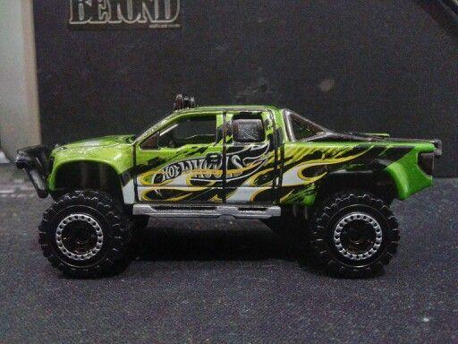 Hotwheels - Sandblaster Green Flame 1 (Customized Wheels)