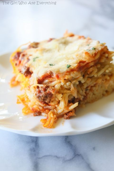 Baked Spaghetti   The Girl Who Ate Everything