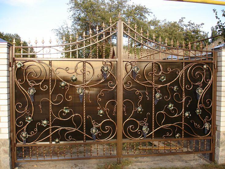 ворота кованые фотография   Фото кованых ворот - фото 23, всего ...