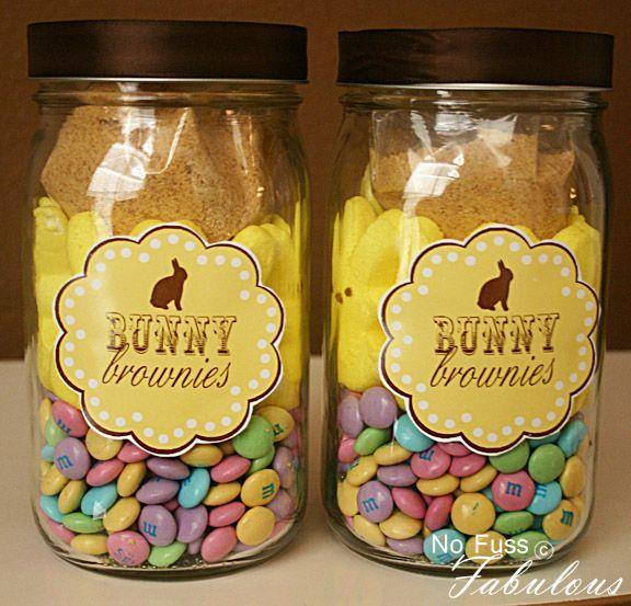 BUNNY BROWNIES IN A JAR & PRINTABLE.
