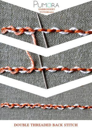 double threaded back stitch tutorial