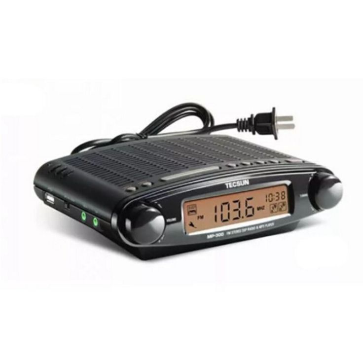 Original Mini TECSUN MP-300 Radio FM Stereo DSP Radio USB MP3 Player Desktop Clock ATS Alarm Portable Radio Receiver LED DIsplay