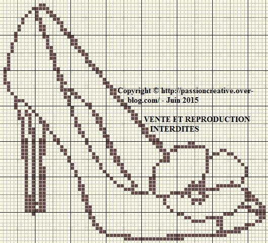 0 point de croix silhouette chaussure - cross stitch shoe silhouette