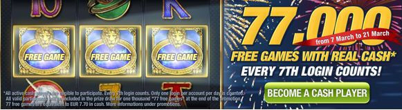 Free Spins Casino: Stake7 Casino – 77,000 free cash games in March
