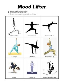 Yoga Sequences for mood improvement